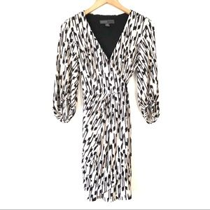 Donna Ricco New York Geometric Faux Wrap Dress